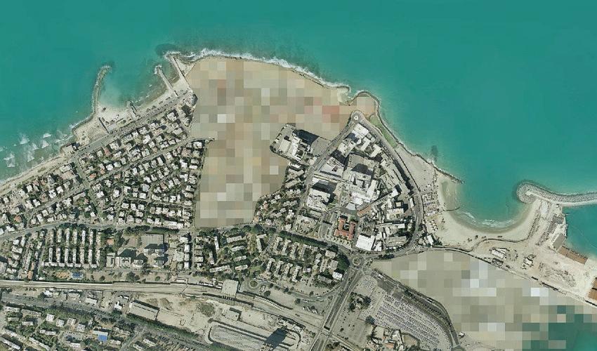 קו החוף שלאורכו תוקם הטיילת (צילום: אגף מחשוב ומערכות מידע בעיריית חיפה)