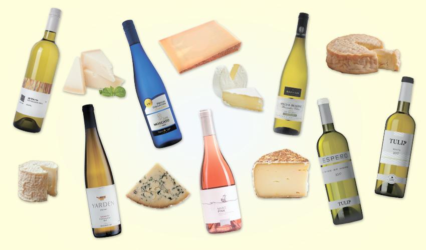 יינות חדשים לחג שבועות. האופי הספציפי של כל גבינה ושל כל יין הוא קריטי להצלחה (צילומים: חגית ממן, רן הלל, איל קרן, חגית גורן)