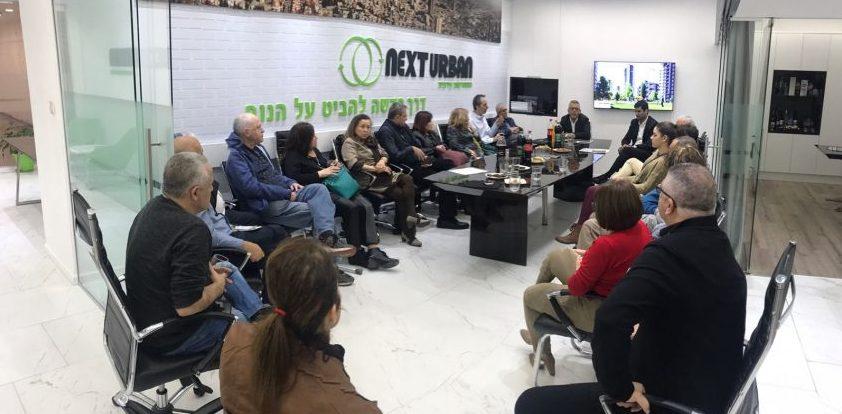 מפגש דיירים במשרדי נקסט אורבן
