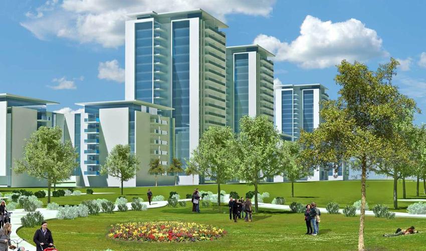 השלב השני של שכונת נאות פרס (הדמיה: מינהל ההנדסה של עיריית חיפה)