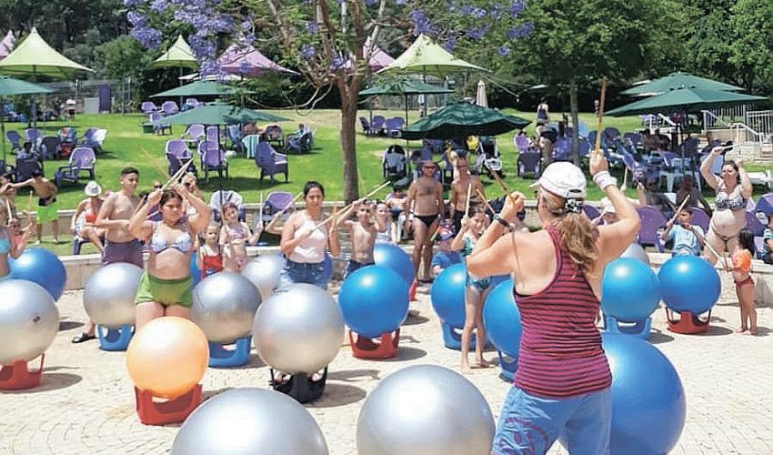 פעילות ספורטיבית לכל המשפחה בקאנטרי ספייס נשר (צילום: יפעת פלד)
