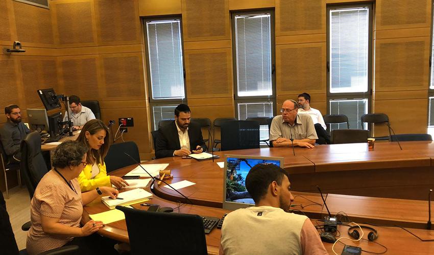 שי בלומנטל בדיון של הוועדה המיוחדת לזכויות הילד בכנסת