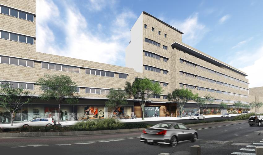 הקמפוס של האוניברסיטה הפתוחה, מבט מרחוב העצמאות (הדמיה: משרד י.י. גרנות אדריכלים)