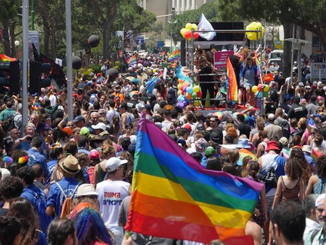 מצעד הגאווה בחיפה (צילום: דוברות עיריית חיפה)