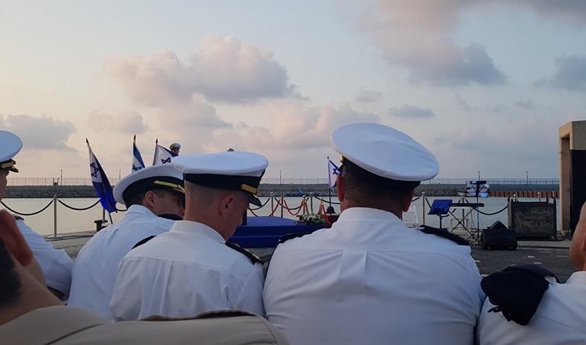 """הטקס לזכרם של חללי הצוללת """"דקר"""" (צילום: יהודה פרחי)"""