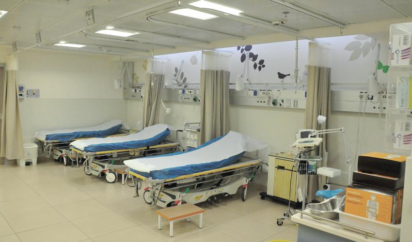חדר המיון הקהילתי במרכז הרפואי לין (צילום: צבי מינקוביץ', דוברות שירותי בריאות כללית)