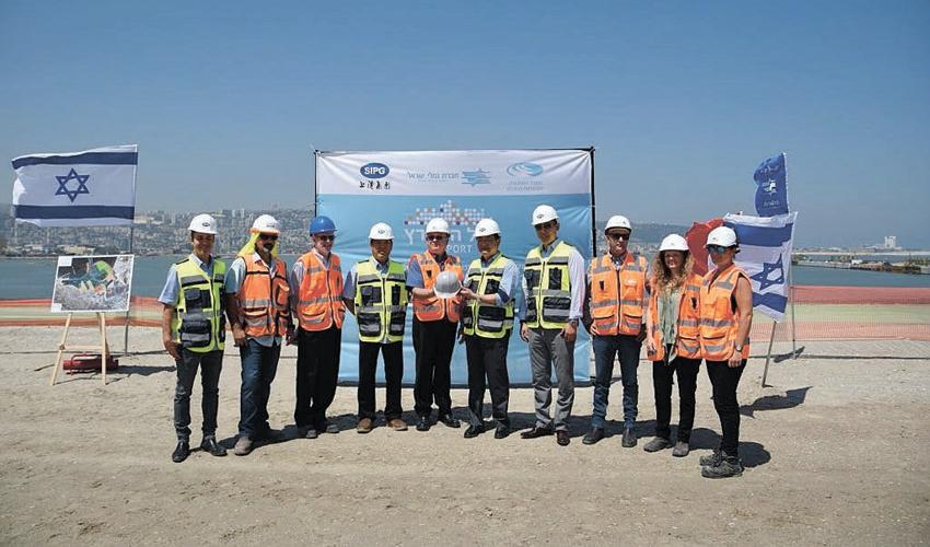 אירוע מסירת השטח לחברה סינית שנגחאי SIPG (צילום: ניר הופמן)