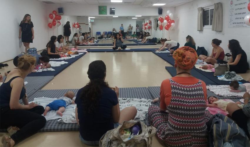 פעילות אמהות וילדים בבית אבא חושי (צילום: דוברות עיריית חיפה)