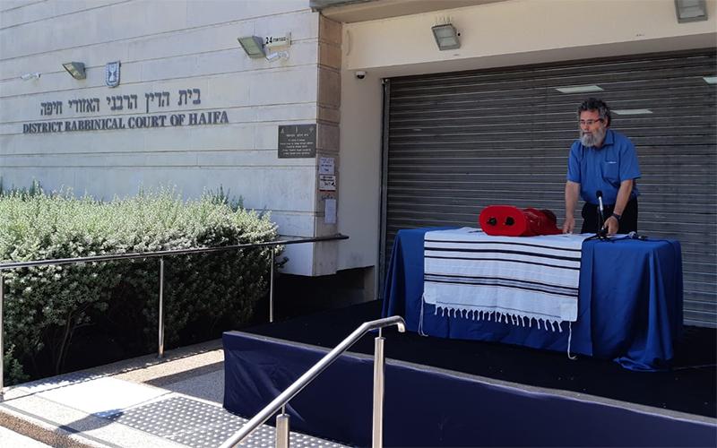 הרב דובי חיון בעצרת התפילה (צילום: בועז כהן)
