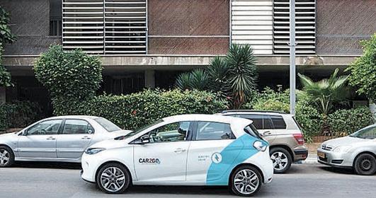 בתמונה מכונית של Car2go (צילום: חברת Car2go)