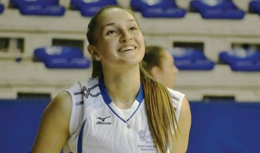 פולינה מליק. נבחרה לאחת מהשחקניות המצטיינות של טורניר היורוליג לנבחרות (צילום: איגוד הכדורעף הישראלי)