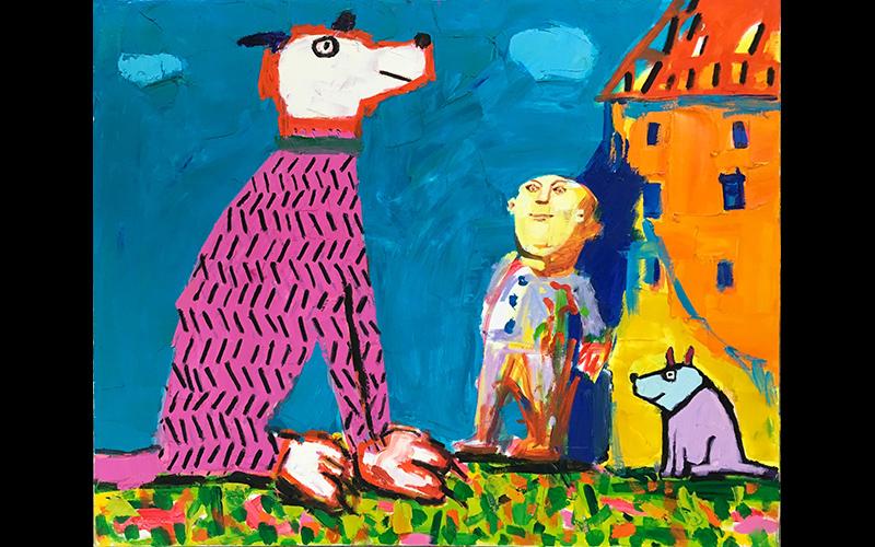 """יצירה של הצייר לאו ריי (צילום: יח""""צ)"""
