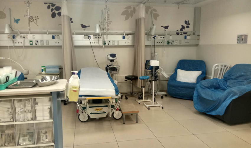 חדר המיון הקהילתי החדש במרכז הרפואי לין (צילום: אלה אהרונוב)