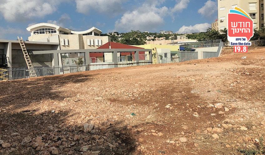 השטח שעליו מתוכננת בניית בית הספר ברמת אשכול