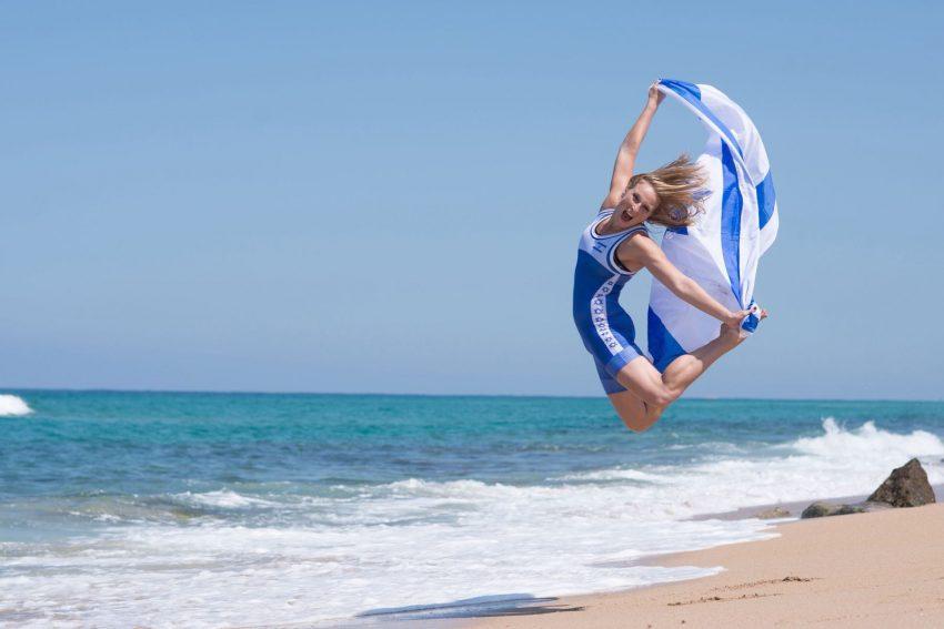 """אילנה קרטיש ודגל ישראל. """"יש לי אומץ"""""""
