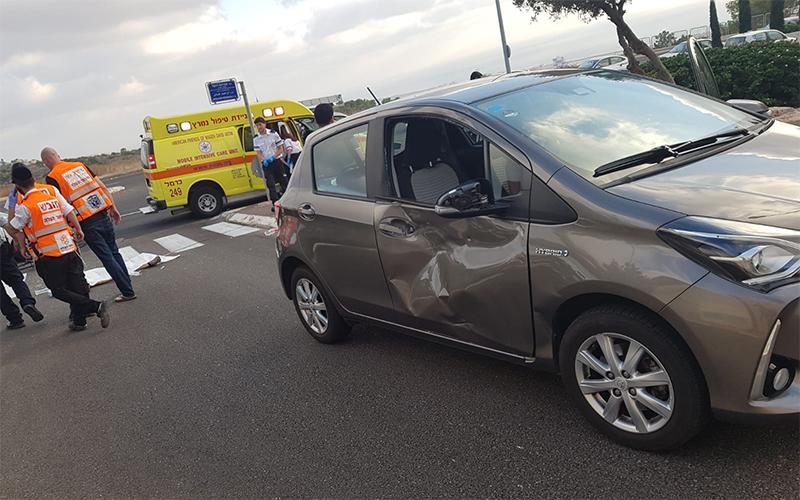זירת התאונה בדרך פרויד (צילום: דוברות איחוד הצלה)