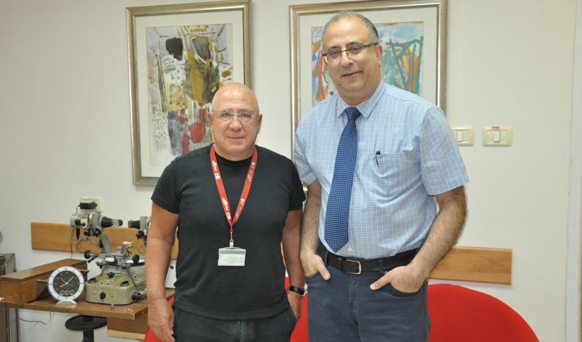"""פרופ' אלי צוקרמן וד""""ר ריאד חדאד(צילום: אלי דדון)"""