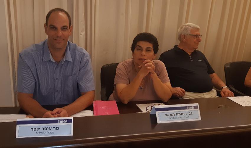 עופר שפר ורוממה תמאם. כל רשימת מועמדים בחיפה חייבת לכלול לא פחות מ-11 שמות ולא יותר מ-62 שמות