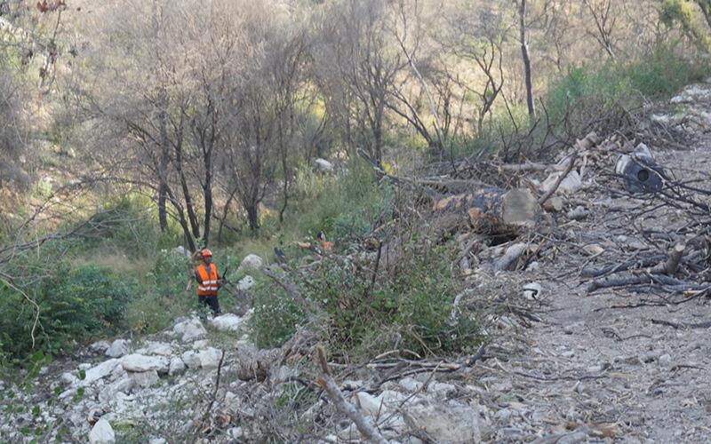 העבודות לשיקום נחל אחוזה (צילום: ענת סולומון)