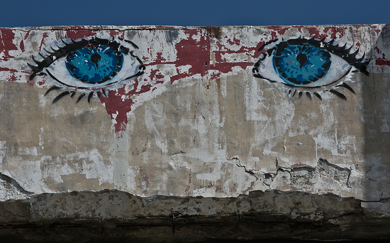 היכן שיש חיי רחוב יש אמנות רחוב (צילום: עופר וקנין)
