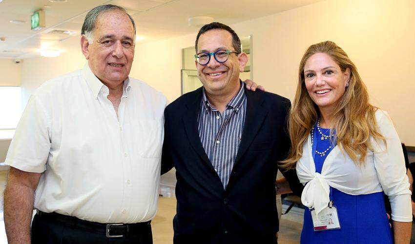 """ד""""ר תלמה כהן, ד""""ר אייל פרוכטר ויונה יהב (צילום: פיוטר פליטר)"""