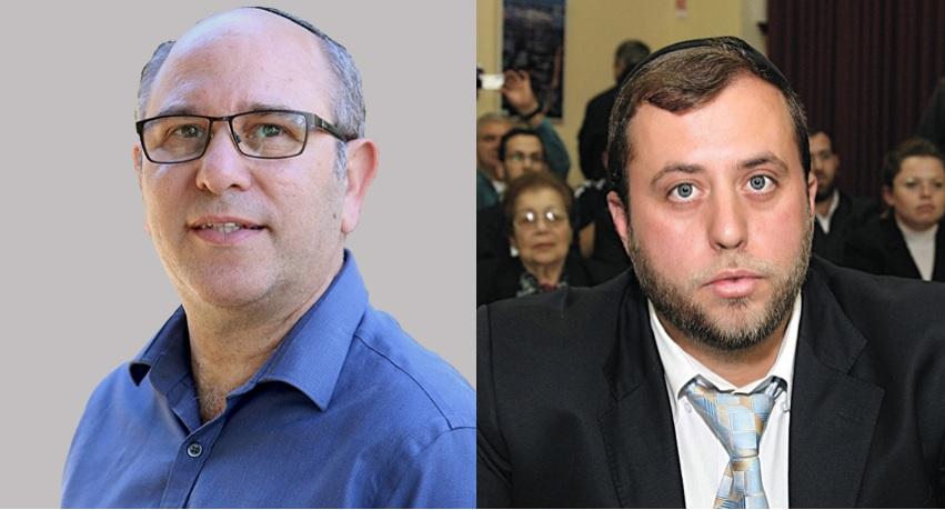 מיכי אלפר ויואב רמתי. כיצד תשפיע החבירה על התמיכה במועמדים לראשות העיר? (צילום: אורלי זיילר)