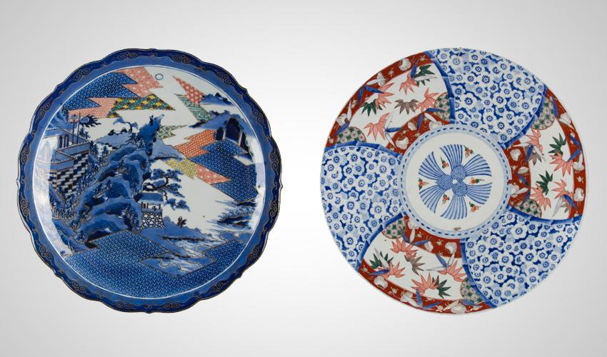 צלחות פורצלן בתערוכה במוזיאון טיקוטין (צילום: סטס קורולב)