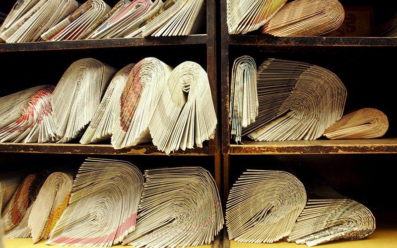 עיתונים. משאבים מצומצמים, ציבור לא סולידרי (צילום: אי.פי)