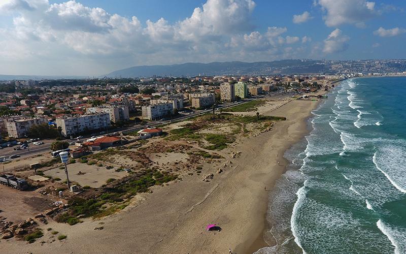 מתחם חוף כאן (צילום: דוברות עיריית חיפה)