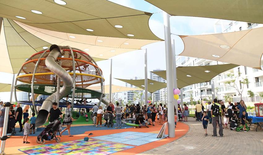 הפארק בשכונת נאות פרס (צילום: דוברות עיריית חיפה)