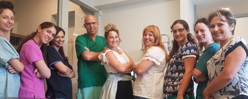 צוות המרפאה של תדהר (צילום: בת חן הרשקו מרגלית)
