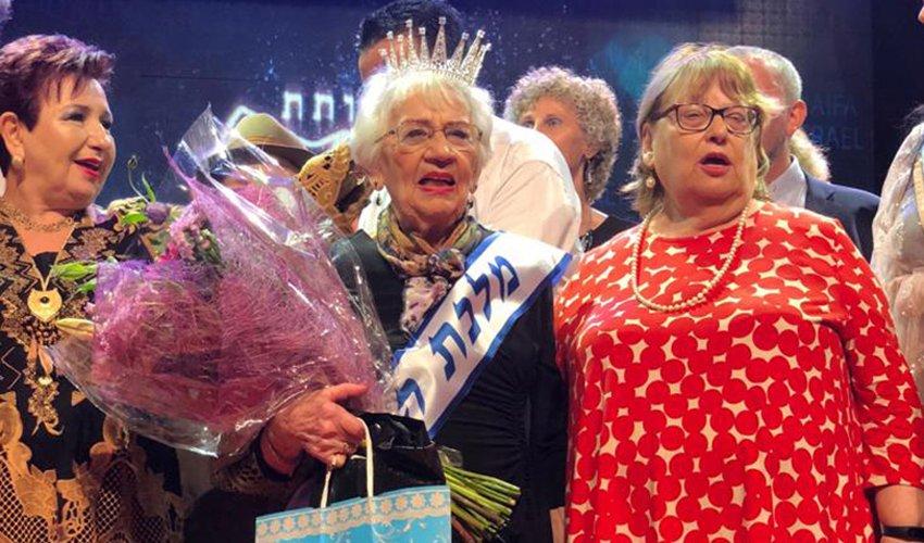 טובה רינגר מוכתרת כמלכת היופי של ניצולות השואה (צילום: ארקדי ליטבין)