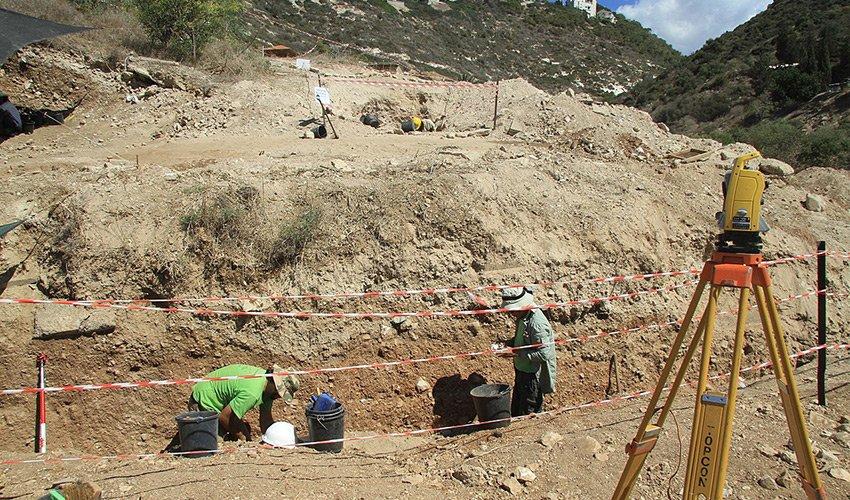 """האתר הארכיאולוגי בנוה דוד (צילום: ד""""ר ראובן ישורון)"""