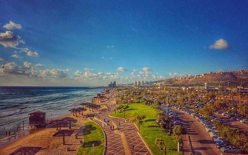 החופים הדרומיים של חיפה (צילום: דוברות עיריית חיפה)