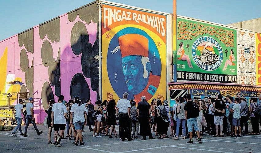 """פסטיבל הקירות בשנה שעברה (צילום: יח""""צ)"""