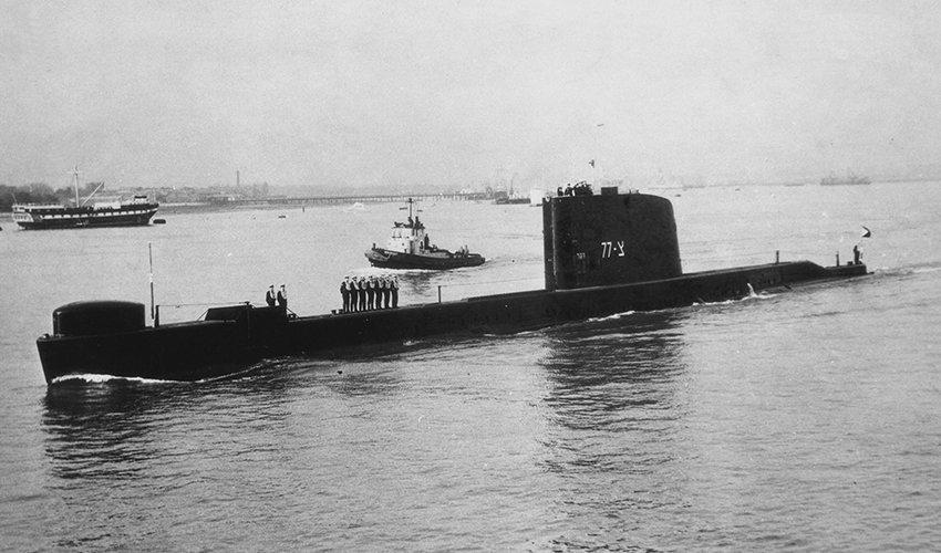 """הצוללת """"דקר"""" (צילום: לע""""מ)"""