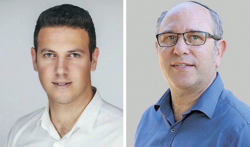 """יואב רמתי ודוד עציוני. היו""""ר מביע תמיכה אך מה יקרה בקלפיות? (צילום: מיכה בריקמן)"""