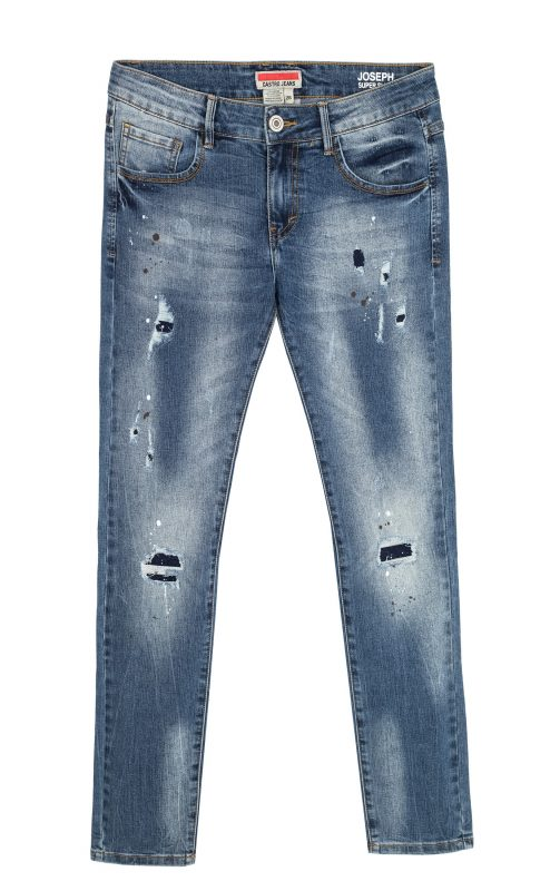 """ג'ינס קרעים לגבר. """"קסטרו"""" 79.90 שקלים. צילום: טל טרי"""