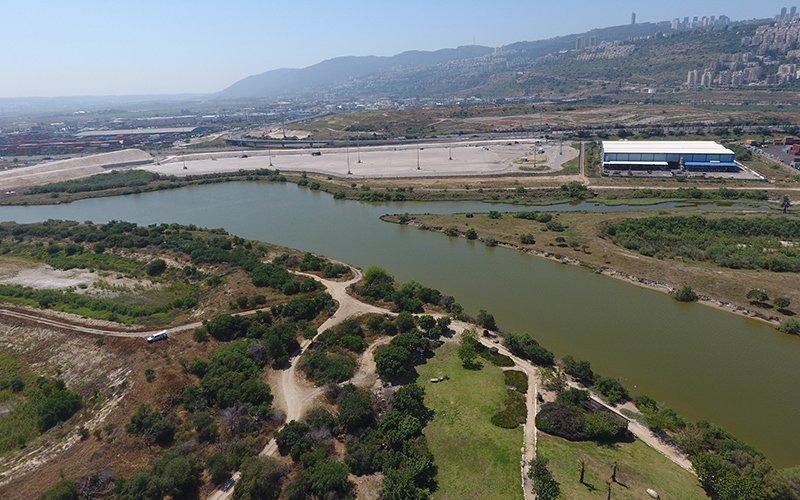 """האזור שבו מתוכננת הקמת שטחי האחסון של חנ""""י (צילום: רשות נחל הקישון)"""