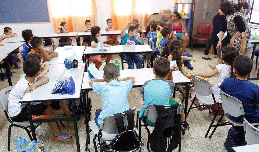 ילדים בקייטנה בבית ספר (צילום: תומר אפלבאום)