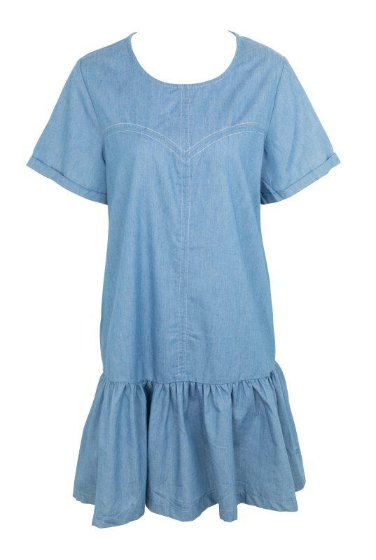 """שמלת ג'ינס. """"יאנגה"""" 49 שקלים. צילום: טל טרי"""