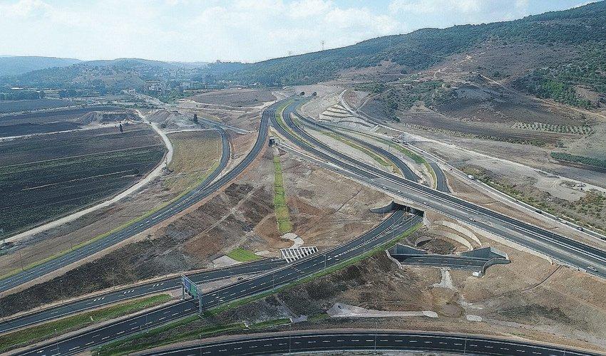המקטע החדש של כביש 6 (צילום: חברת כביש חוצה ישראל)