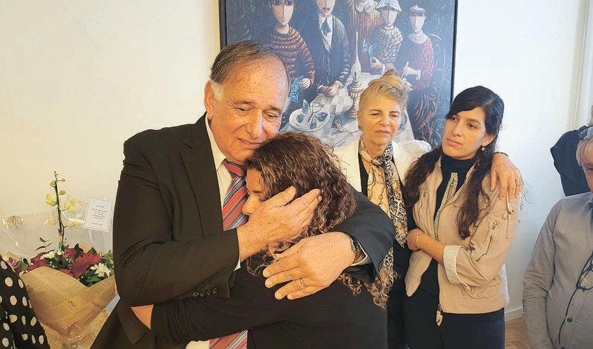 יונה יהב ובני משפחתו בטקס הפרידה מעיריית חיפה