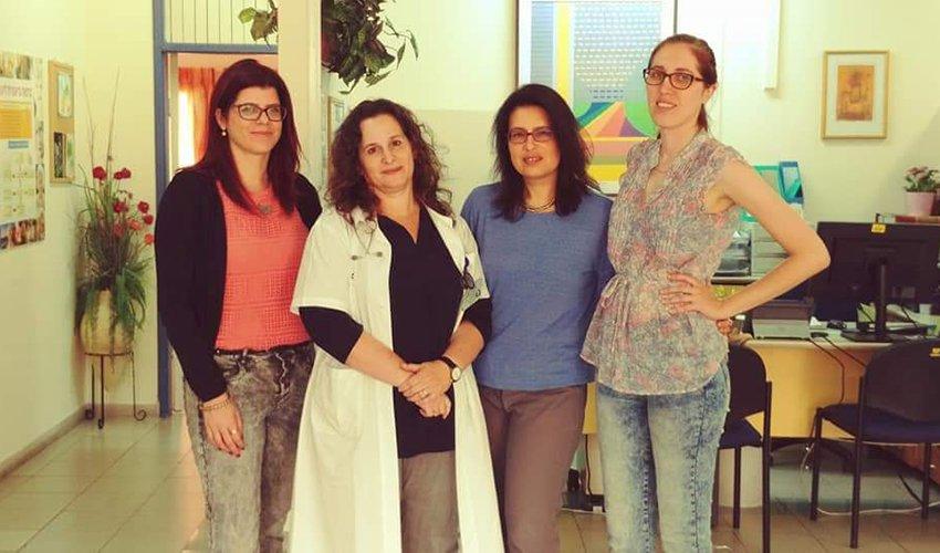 """יוצרות השת""""פ בין שירותי בריאות כללית לאוניברסיטת חיפה (צילום: דוברות שירותי בריאות כללית)"""