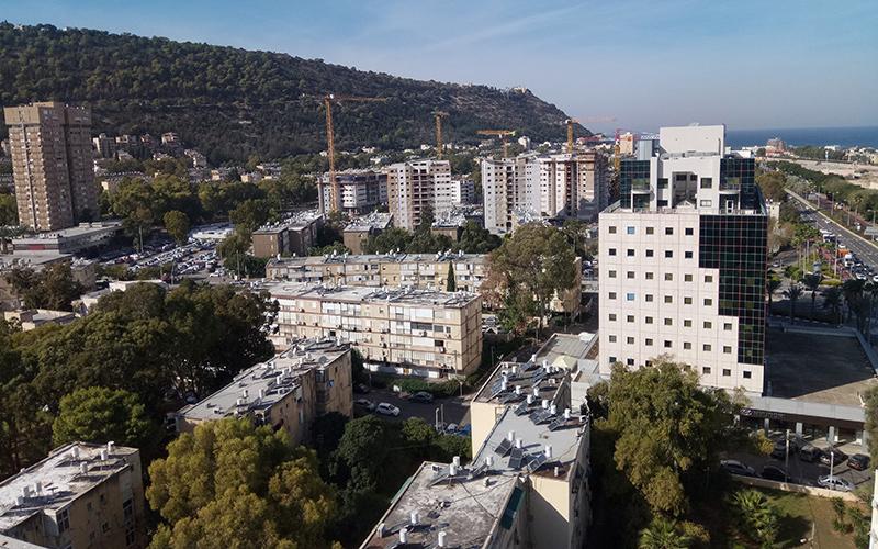 שטחים בנויים ופתוחים בחיפה (צילום: שי אילן)