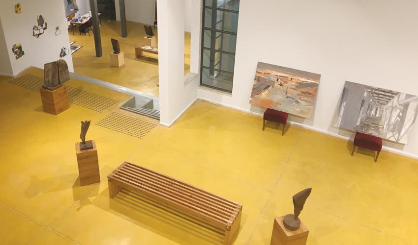 חלל המרכז לאמנות פירמידה (צילום: חגית הורנשטיין)