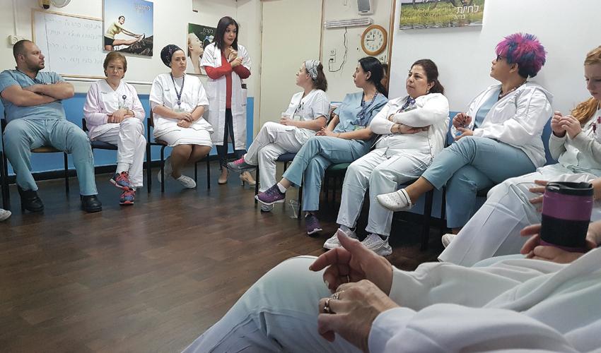 הסדנה לאחיות במרכז הרפואי לין (צילום: דוברות שירותי בריאות כללית)