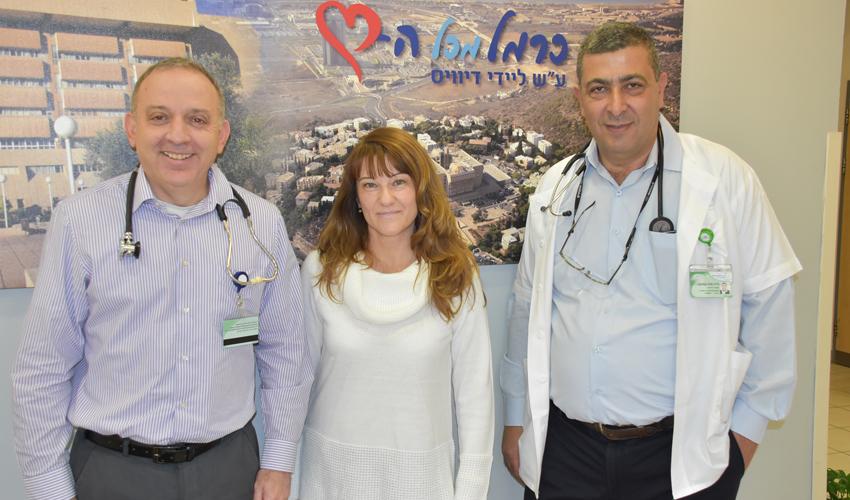 """ד""""ר ווליד סליבה, ד""""ר ילנה מישצ'נקו וד""""ר מאיר פרייס (צילום: אלי דדון)"""