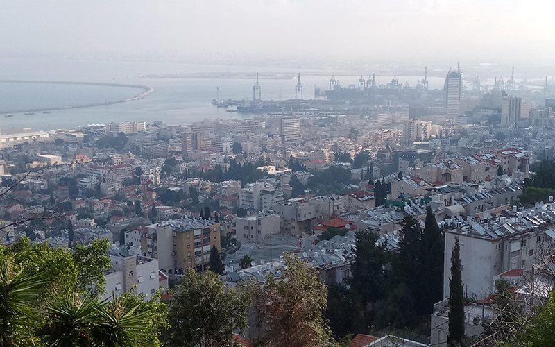 אובך בחיפה (צילום: שי אילן)