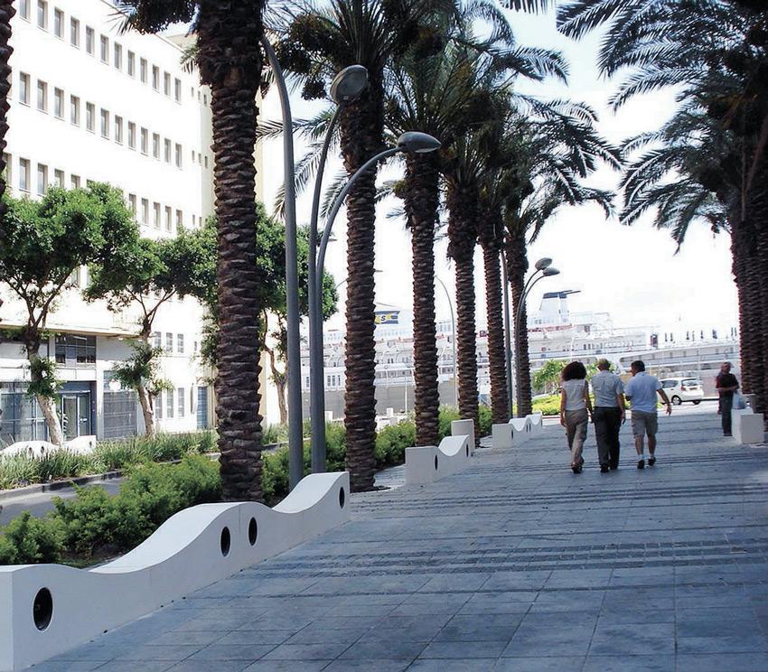 קמפוס הנמל, שער פלמר (צילום: ברקן-אלחייני אדריכלות נוף)